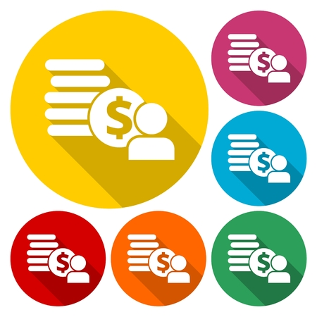 Employee wages icon Vector