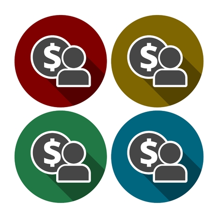 wages: Employee wages icon Vector