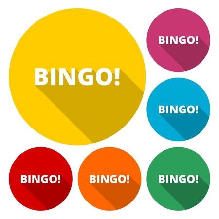 Bingo Icon Vector. Vector illustration. Illustration