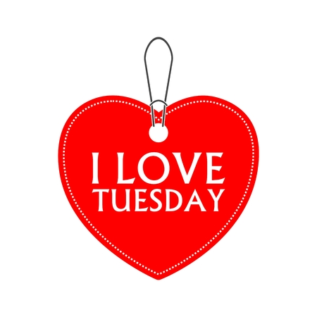 I love tuesday, heart bargain