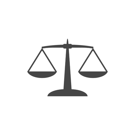 convicted: Scales Icon- vector