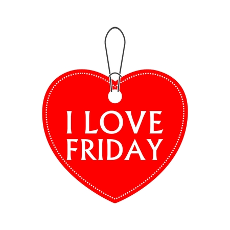 I love friday, heart bargain