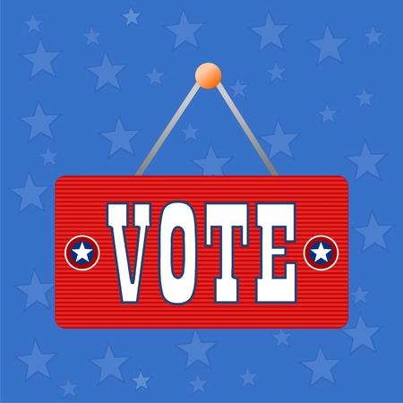 presidential: Vote vector illustration
