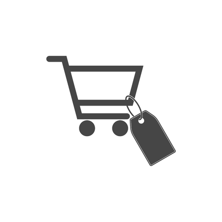 Shopping Cart icon, tag icon