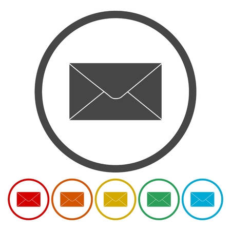 rollover: E-mail icon isolated on white