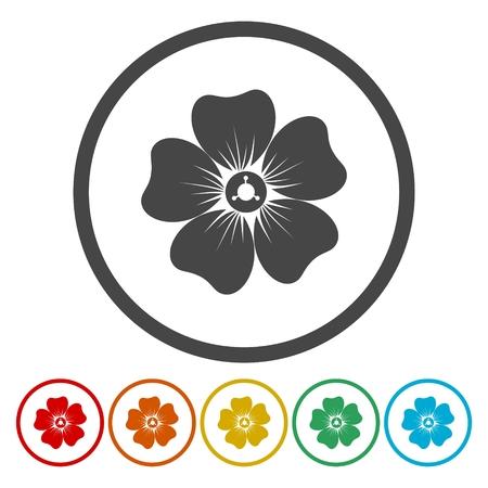 Fiore set di icone Archivio Fotografico - 72371228