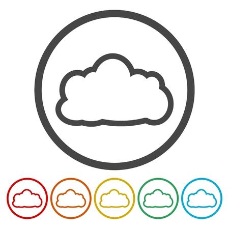 Cloud icon set Ilustração