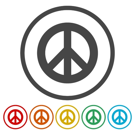 pacificist: Peace sign icon. Hope symbol.