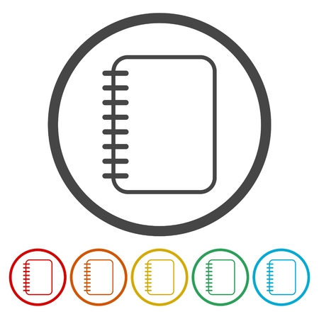 notebook paper: Notepad sign icon. Paper notebook symbol. Illustration