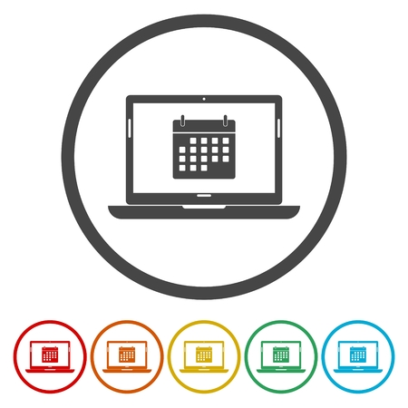 Laptop and calendar icon