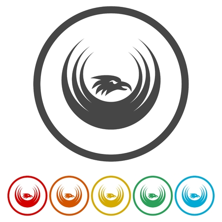 eagle: Eagle icon illustration template. Illustration