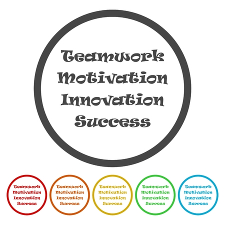 Team & teamwork, motivated people - vector icon