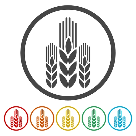 Agricultural sign icon. Wreath of Wheat Illustration