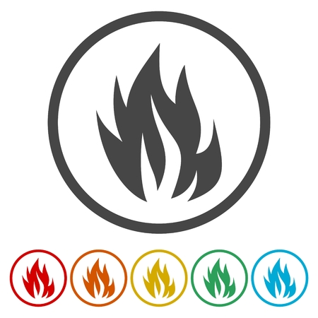 Fire vector isolated elements for design. Illustration
