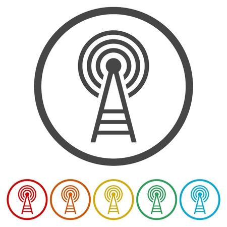 tv tower: Transmitter. Flat Icon
