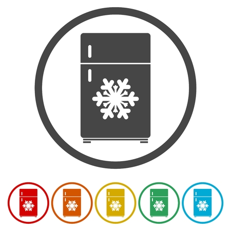 Refrigerator icon. Fridge sign