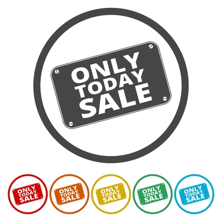 exclusively: Only Today sale sign Illustration