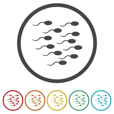 insemination: Sperm sign icon. Fertilization or insemination symbol