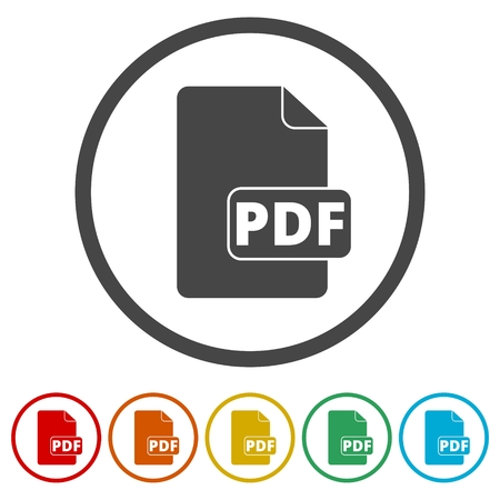 pdf: PDF file document icon. Download pdf button