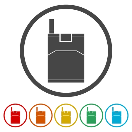 Open cigarette pack, icon vector illustration
