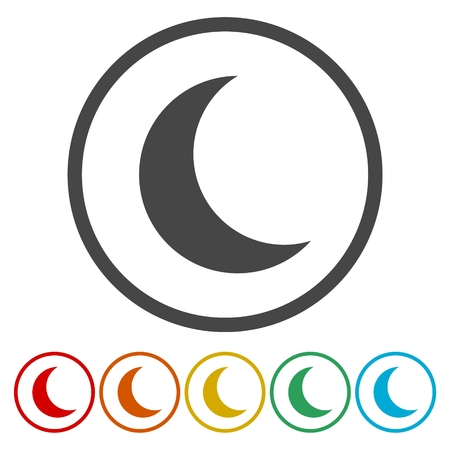 moon: Moon icon, moon vector icon Illustration