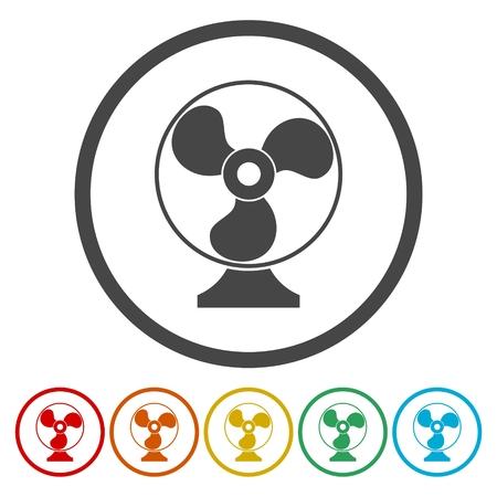 Exhaust fan icon. Ventilator symbol