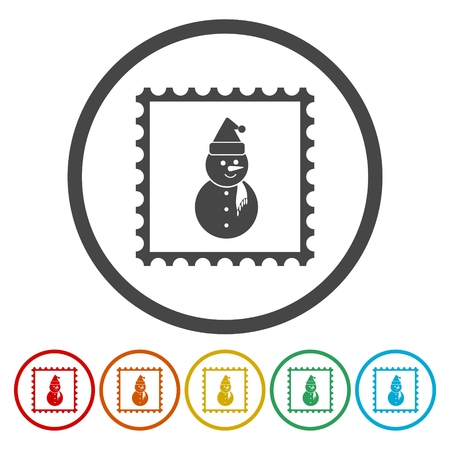 merry chrismas: Vector christmas stamps