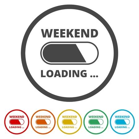 Weekend Coming - Design Concept, carico fine settimana Vettoriali
