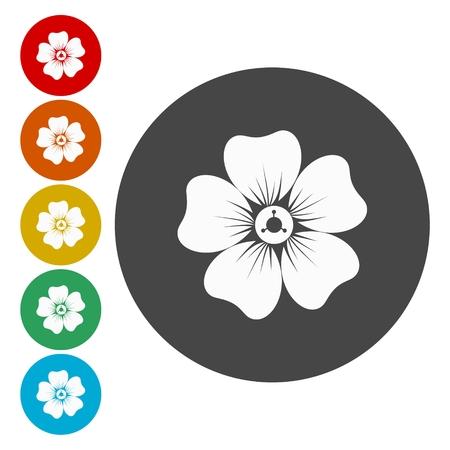 Set di icone del fiore Archivio Fotografico - 74418750