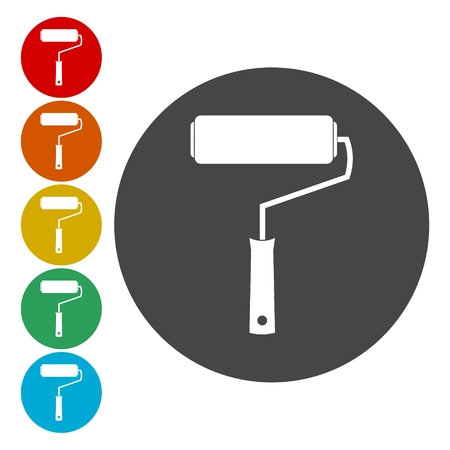 Paint roller sign icon. Painting tool symbol