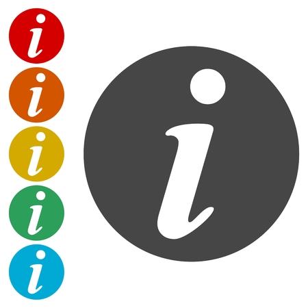 information medium: Vector information web icon design element