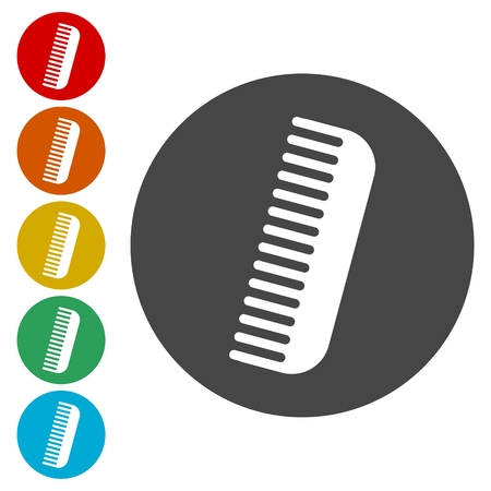 Comb Icon with Color Variations