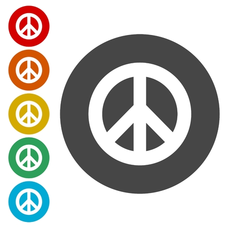 peace stamp: Peace sign icon. Hope symbol