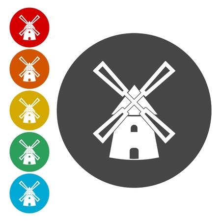 Windmill web icon Illustration