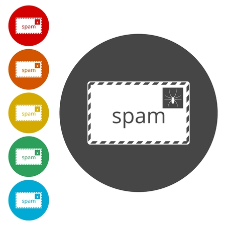 Spam icon. Spam sign