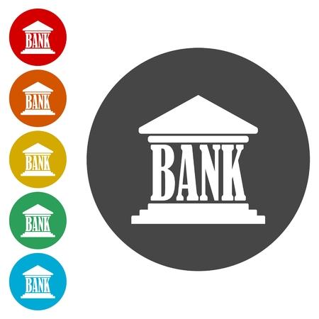 Bank vector icon Illustration