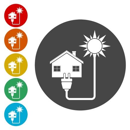 globe logo: Renewable energy recycling symbol