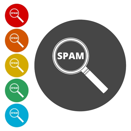 Spam icon. Spam sign. Lupa icon
