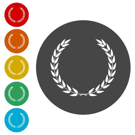 ten best: Laurel Wreath. Vector icon