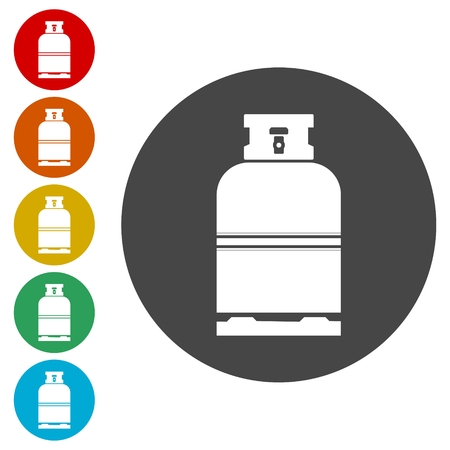 lpg: Gas cylinder icon. Vector illustration