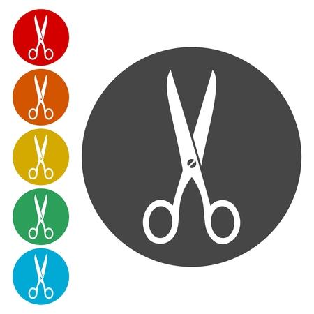 Scissors icon sign. Scissors icon flat design