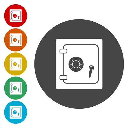 turn dial: Vector illustration of security concept icon set Illustration