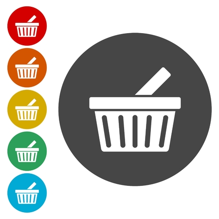 A Vector basket icon Illustration