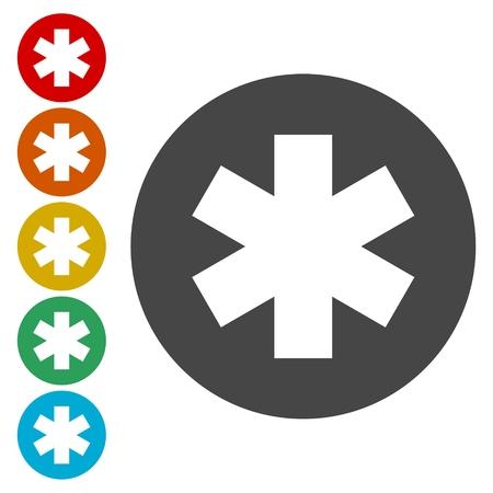emblem for drugstore or medicine: Medical symbol icon set