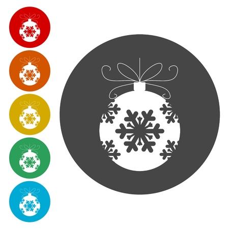 compliment: Christmas ball icon