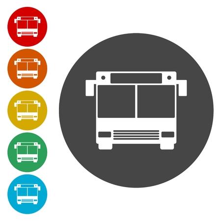 schoolbus: School Bus Icon with Color Variations