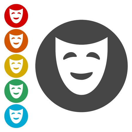 moods: Mask theater vector icons