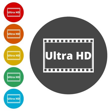 flat screen tv: Ultra HD icon