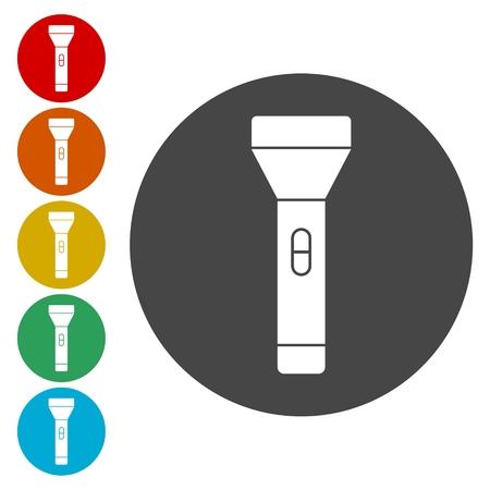Flashlight icon with circle