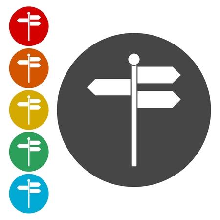 Blank traffic road sign on white background. Vector illustration